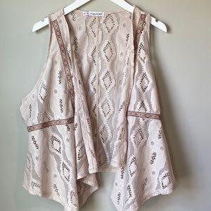 Maurices Cream Vest 0/S